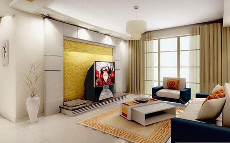 简单大方电视背景墙装修效果图
