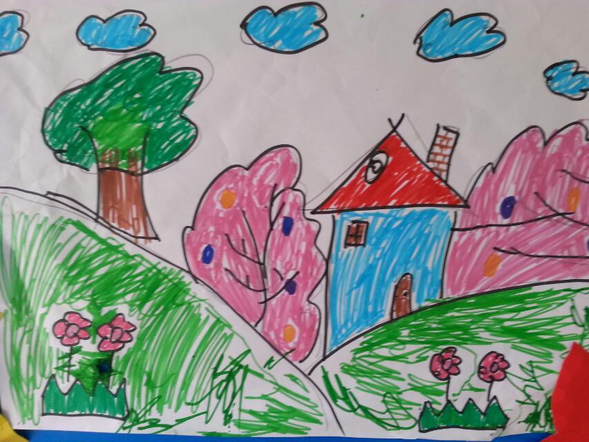 绘画—秋天的画_宜春行政中心幼儿园