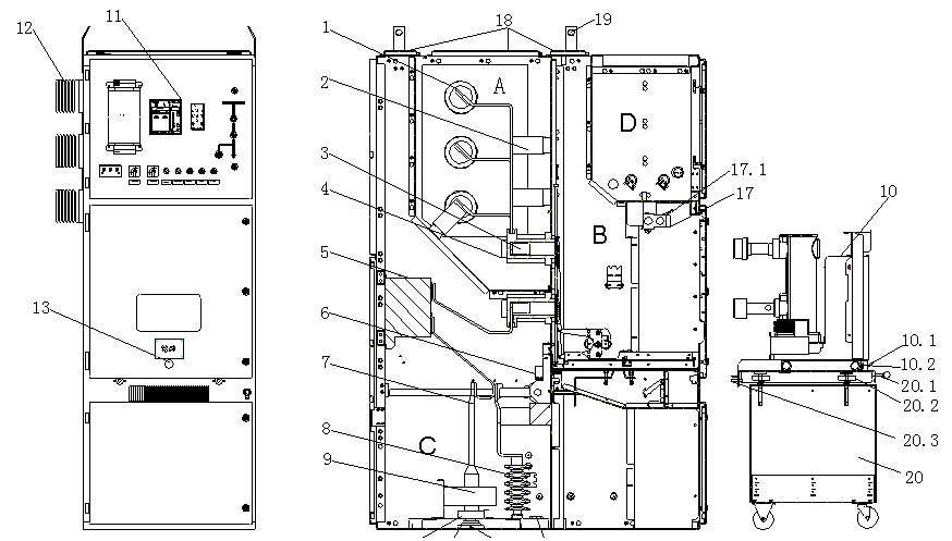 开关柜的二次元件装在低压室内及门上