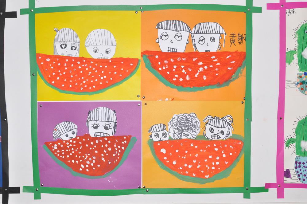 幼儿美术创意拼贴画展示