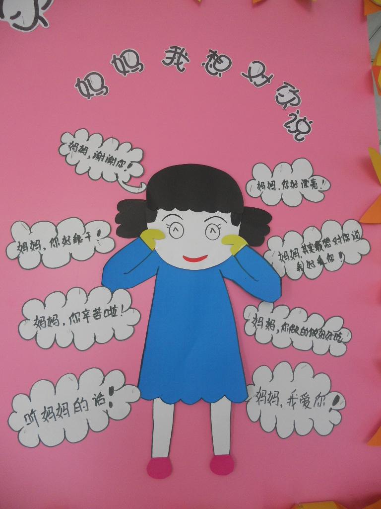 """主题墙""""妈妈,我爱你""""_宜春行政中心幼儿园"""