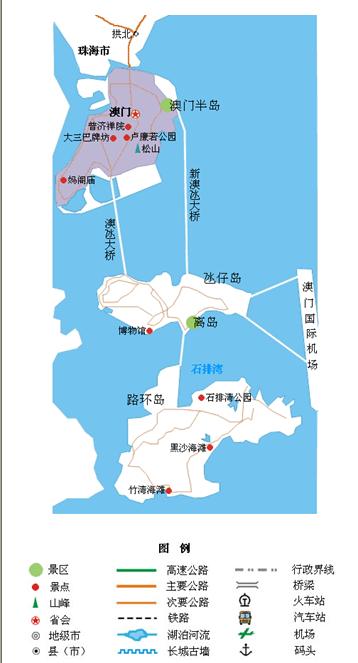 二,福建旅游地图