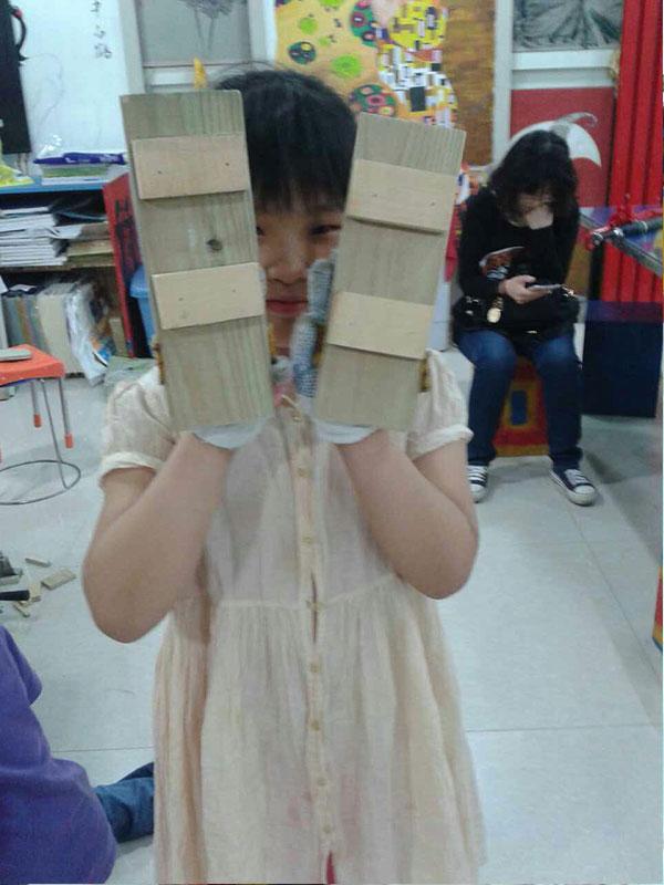 中国传统木工课程-木屐_石家庄少儿美术_潜移墨画少儿