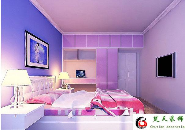 房间装修图片紫色