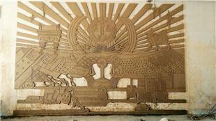 文山洲硯山縣法院-定制玻璃鋼紅銅浮雕