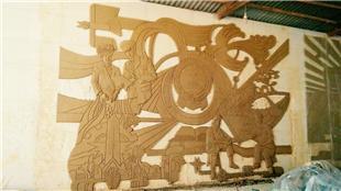 文山洲砚山县法院-定制玻璃钢红铜浮雕