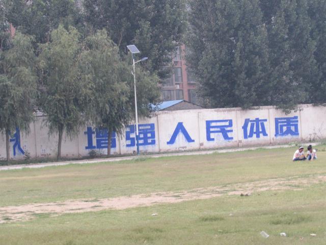 开封县第一高级中学体育场太阳能路灯项目