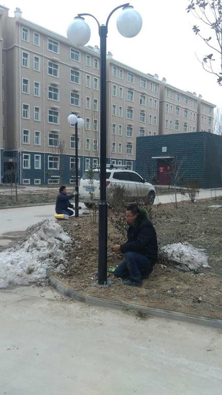 晋煤集团生活区庭院灯工程